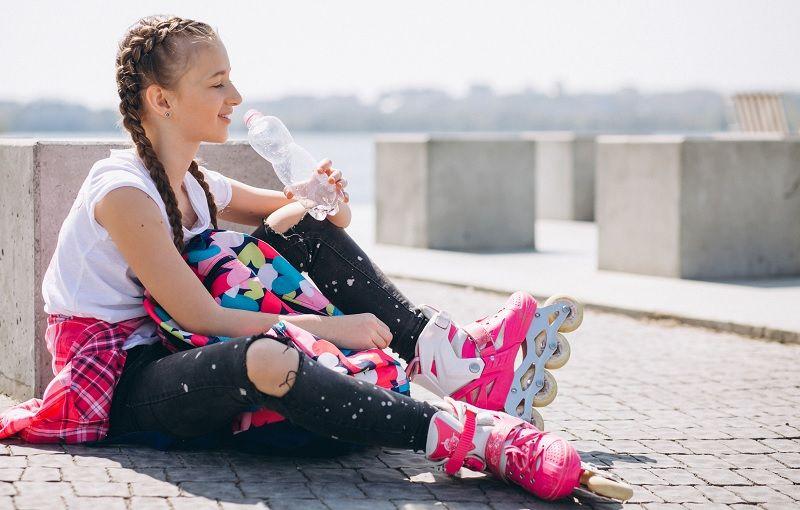 niña patinadora
