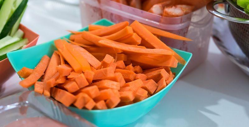 zanahoria en bastones
