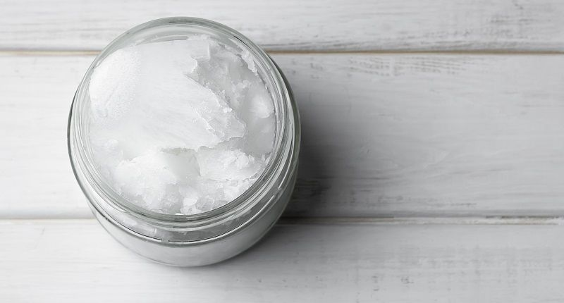 aceite de coco sólido