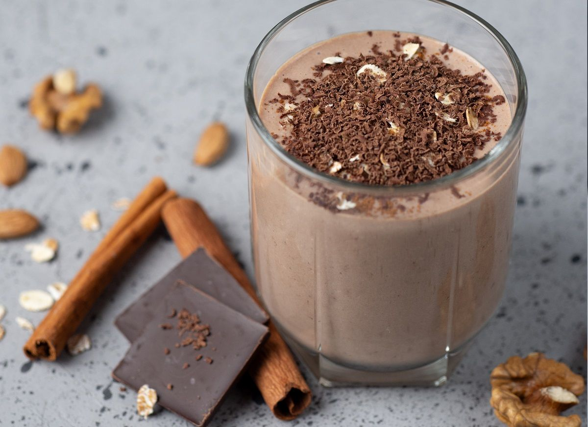 batido saludable de chocolate