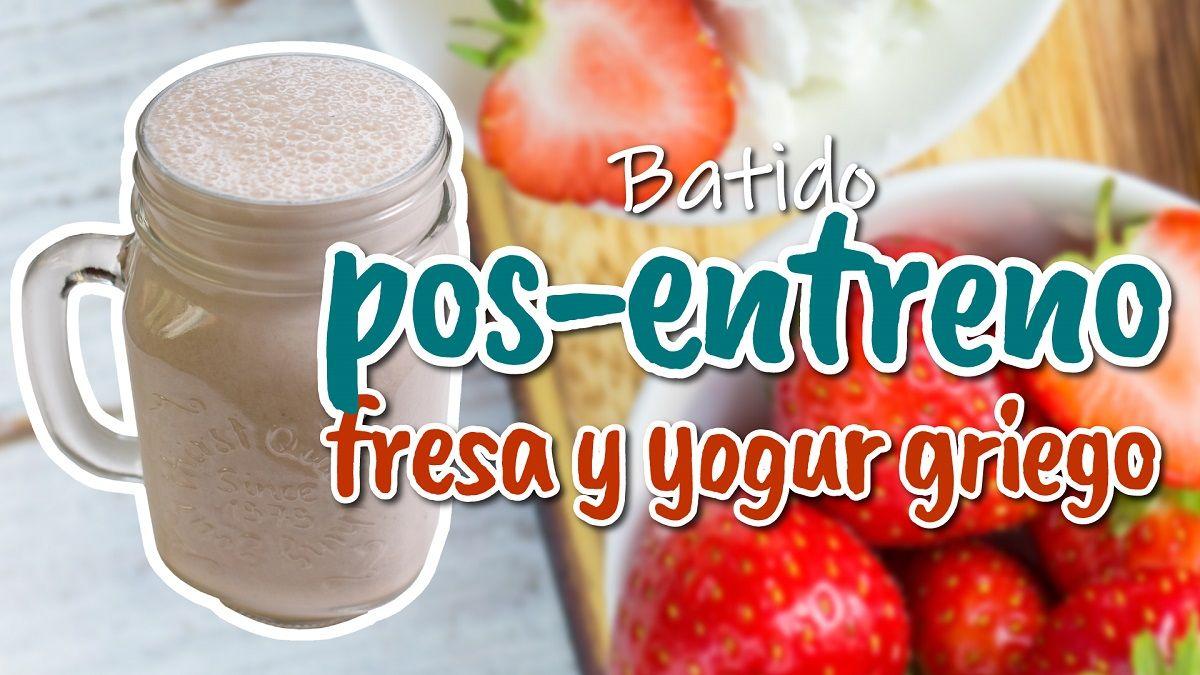 Delicioso batido posentreno con yogur griego