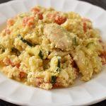 arroz de coliflor con pollo