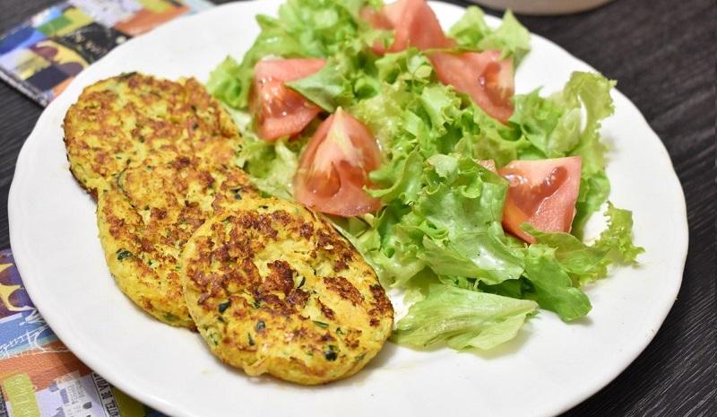 croquetas de zucchini para la cena