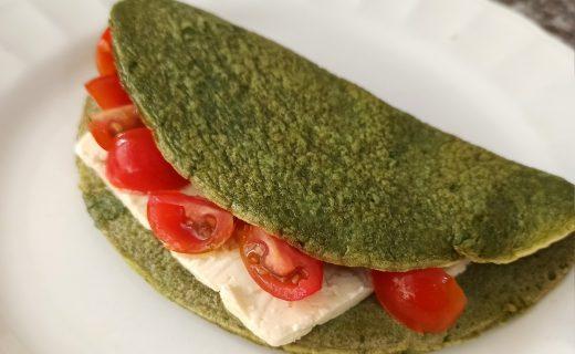 Omelette verde para un desayuno saludable y delicioso